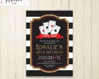 Las Vegas Bachelorette Party Invitation Ticket Retro Pinup