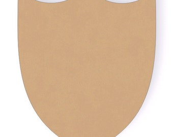 One 12 Inch Unfinished Wooden Shield Cutout Shape