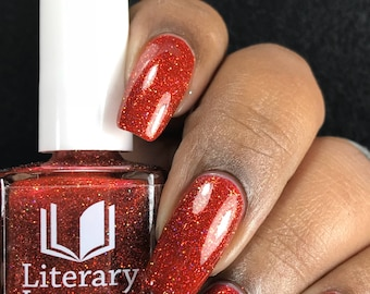 NEW! Six Impossible Things - Red Microglitter Nail Polish - Alice in Lacquerland