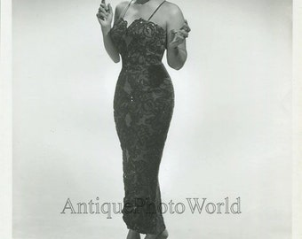 Rhythm and Blues singer Gloria Lynne vintage music photo