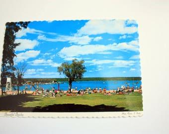 Manitoba Beaches Postcard 1974  / Vintage Beaches / Manitoba Postcard / summer Postcard