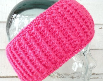 Bright Bubblegum Pink Stretchy Headband Earwarmer