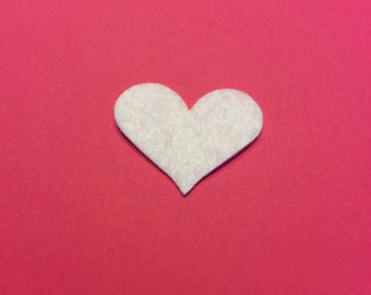 Heart Felt Cut Out for Wax Dipping and Other Crafts