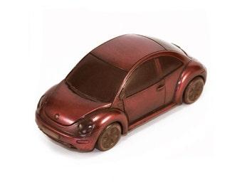 Chocolate car VOLKSWAGEN BEETLE replica Volkswagen Beetle VW Bug classic car vw beetle gift inspirational gifts anniversary Love Bug vw art