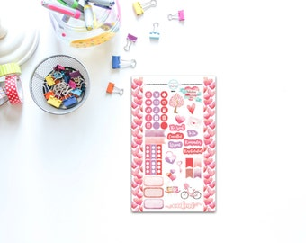 Personal Sized Valentine Stickers for Planners, Penpal and Journalling HBSP0013