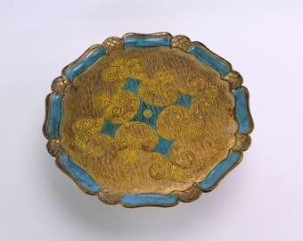 Gorgeous florentine round tray