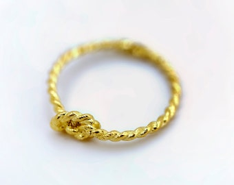 Pinky Promise Ring - 14K Yellow Gold- for Sarah