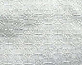Matelasee ivory upholstery bedding fabric