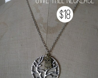 Owl Tree Pendant