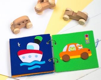 Activity Book - Quiet Book - Busy Book - Felt Book - Toddler toys - Soft book - First Book - Toddler book - Baby Activity Book - Fabric Book