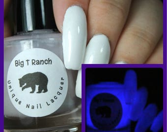 Glow-in-the-Dark Nail Polish - Purple - Milky Way - FREE U.S. SHIPPING - Nail Polish/Lacquer - Regular Full Sized Bottle (15 ml size)