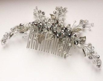 Wedding bridal headpiece, Crystal hair comb Comb, Hair Comb, Bridal hair comb, Wedding hair comb
