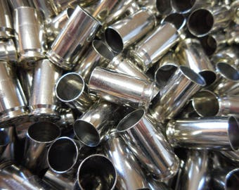 9MM Once Fired Nickel Plated Brass 500 + Pieces. Perfect for, Jewelry and Crafts. Range Brass, Crafting, Steampunk, DIY