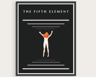The Fifth Element - Leeloo, Digital art, illustration print.
