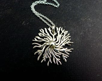 Dictyostelium Pendant - Slime Mold - Microbiology Jewelry - Science Jewelry - Scientist Jewelry - Biology Gift - Metal 3D Printing