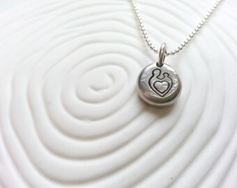 Mother and Child Necklace- Personalized Mother's Jewelry