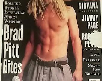 Brad Pitt Rolling Stone Magazine December 1994 Music Collectible Magazines