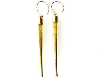 Brass Points Earrings