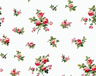 Dolls House   Wallpaper 1/12th or 1/24th scale Floral Quality Paper  Miniature #112