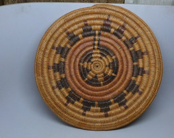 Vintage Navajo Traditional Wedding Basket - Native American Basket - Indian Basket - Antique Basket - Native American Textile