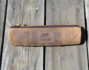 Kodiak Leather Pencil Case