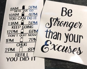 Be stronger than your excuses w/ water intake