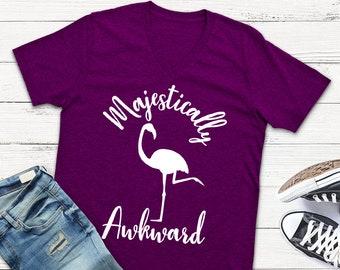 2 STYLES Majestically Awkward Svg Flamingo Svg Shirt Svg Designs Vinyl Cut Files Dxf Cutting Files Cutting Templpate Cameo Silhouette Cricut