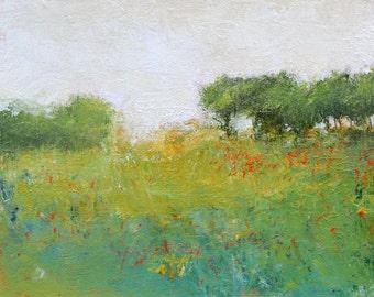 Landscape painting impressionist landscape tonal modern art original painting sunset glow by Don Bishop