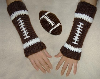 Toy Football and Leg Warmers/Arm Warmers - Sizes Baby, Child, Adults-INSTANT DOWNLOAD Crochet Pattern