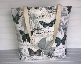Butterfly Tote | Handmade Everyday Tote | Market Bag