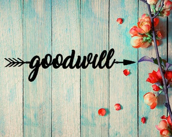 Goodwill to All Arrow Wall Art (B52)