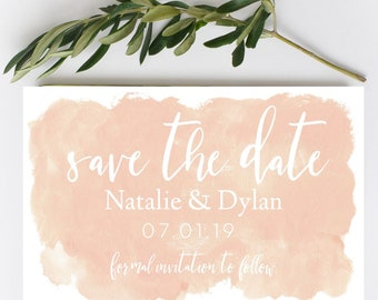 Blush Save the Date magnet- Save the Date-Custom save the date-pink blush save the date-Wedding magnet-Birthday Save the Date magnet