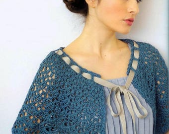 Wonderful warmers shoulder Cape capelet crocheted /on order