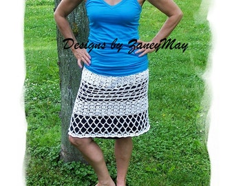 Summer Breeze Crochet Skirt Pattern in PDF