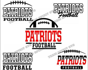 Patriots Football Bundle Download Files - SVG, DXF, EPS, Silhouette Studio, Vinyl  Files, Digital Cut Files -Use with Cricut and Silhouette