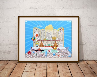 Art print, painting, wall art, poster, illustration, drawing, wall decor. ALTAR