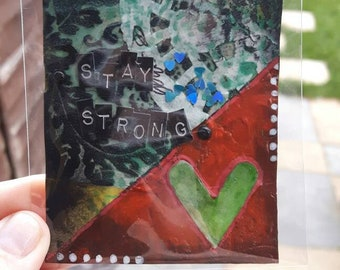 Stay strong atc art card aceo