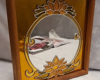 Golden colored Shabby Chic Mirror