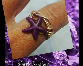 Peace, Love & Purple Sunshine Ring Size 7