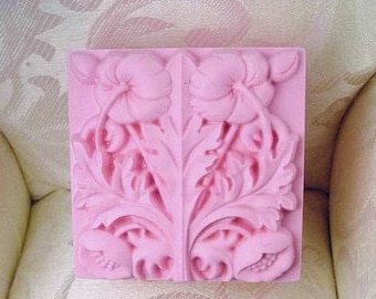 Square Morning Glory Flower Soap Mold Flexible Silicone Mould Candle Candy Cake Fimo Resin Crafts diy Mould in Handmade