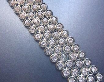 Paste Rhinestone Vintage Cuff Bracelet Wedding Jewelry Something Old
