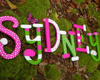Kids Name Letters - Painted Wall Letters - Whimsical Font - Nursery Decor - Baby Name - Baby Shower Gift