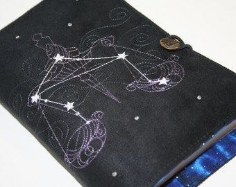 Libra  Embroidered Book Cover
