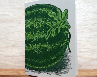 Watermelon Greeting Cards pack of 8 folded notes
