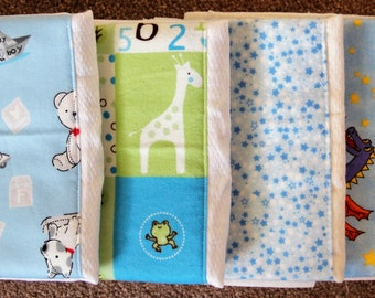 Burp Cloths - Set of 4 ~ #2B-1127
