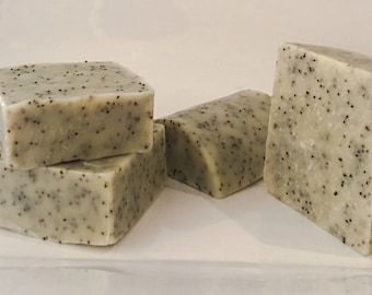 Poppy Seed Soap - Natural Soap, Handmade Soap, Essential Oil Soap, Exfoliating Soap