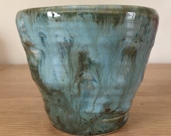 Handmade in Derbyshire Wheel Thrown Ceramic Pot