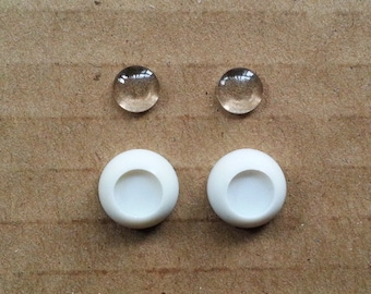 SA 8mm BJD DIY flat eye chip (semi-finished products) Buy ten pair get two pair free