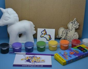 Paint Your Own Ceramic Unicorn & Colour In Activity Kit