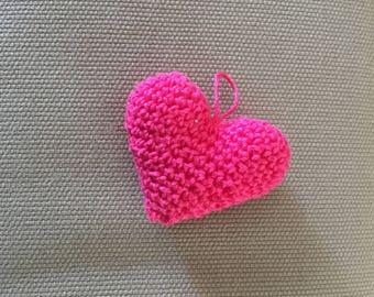 Heart Keychain Amigurumi